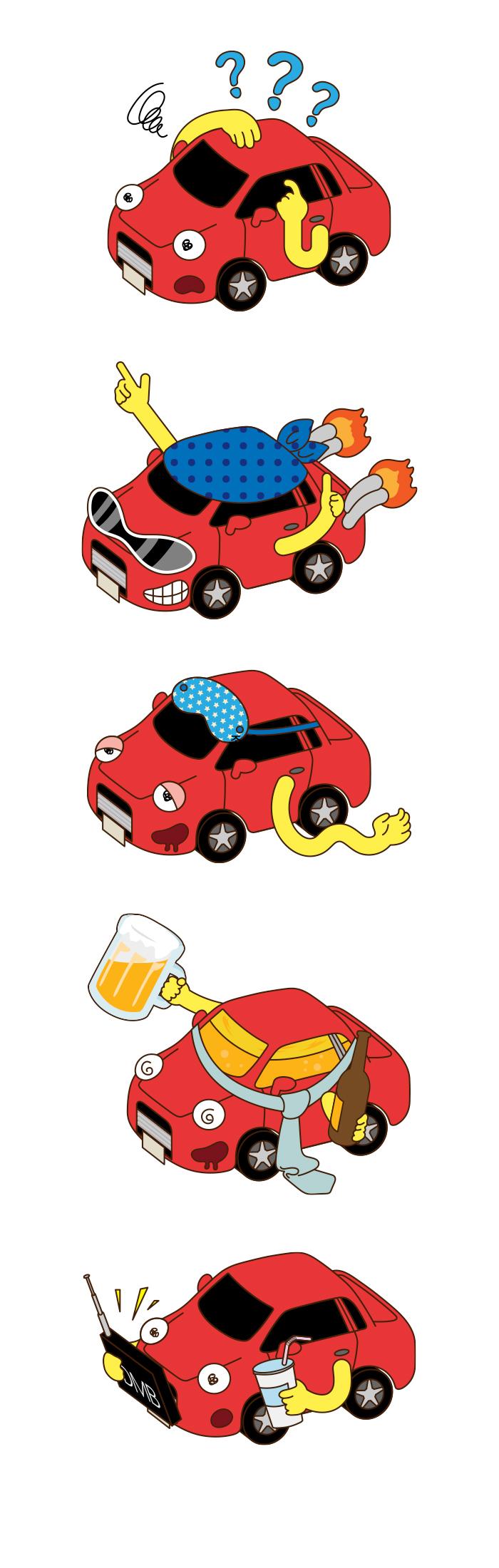 인포그래픽 활용 캐릭터 디자인 _ 교통사고