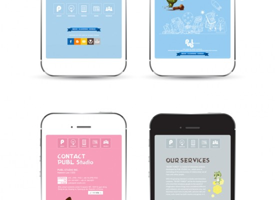 PUBL Studio Mobile Site Development