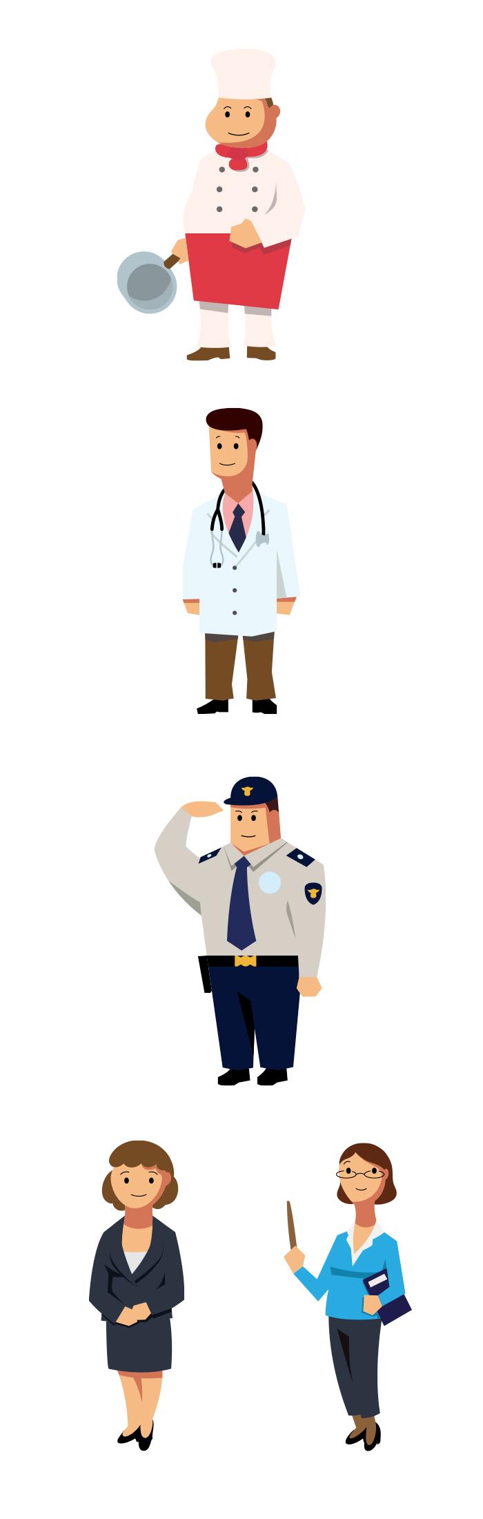 인포그래픽 활용 캐릭터 디자인 _ 직업