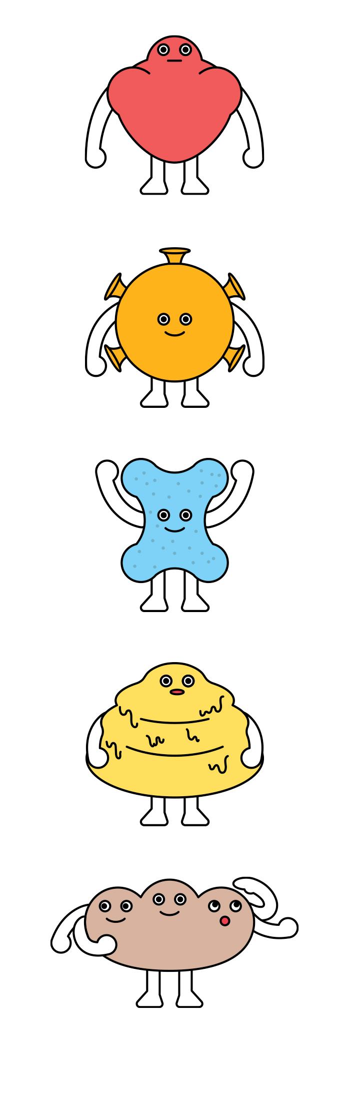 인포그래픽 활용 캐릭터 디자인 _ 영양소