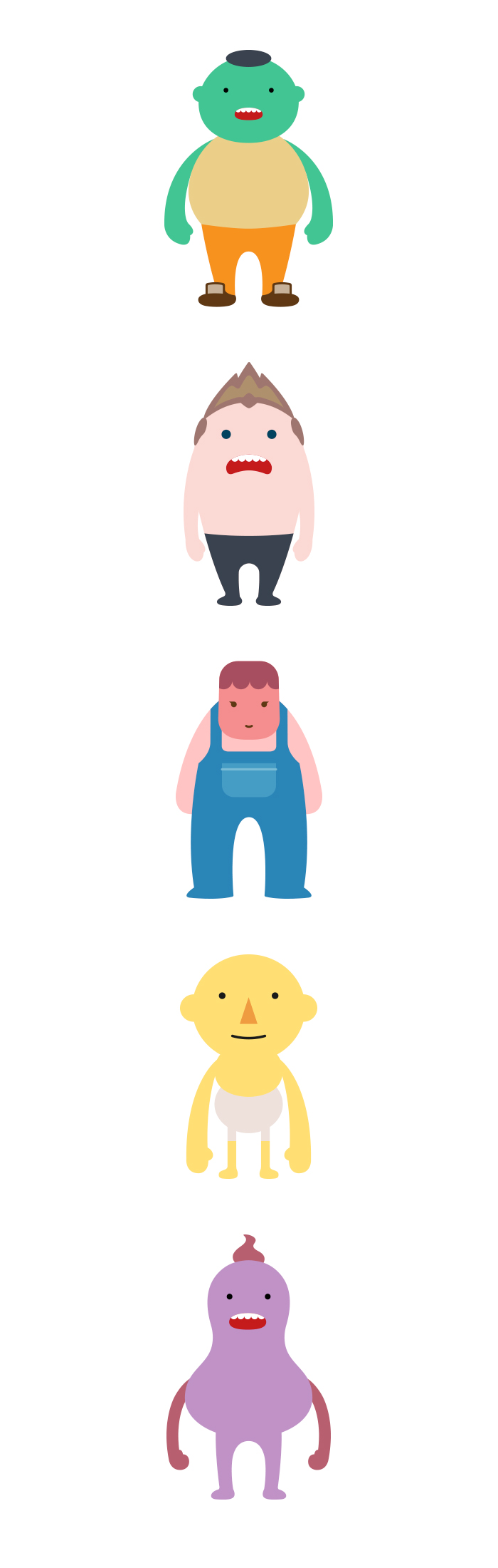 인포그래픽 활용 캐릭터 디자인 _ 안전재난 _ 서브