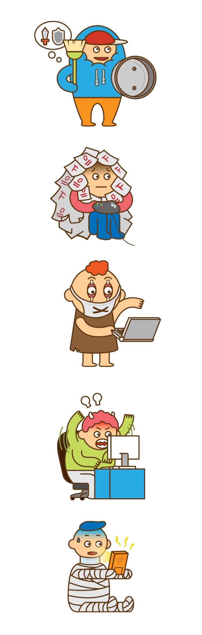 인포그래픽 활용 캐릭터 디자인 _ 게임 중독