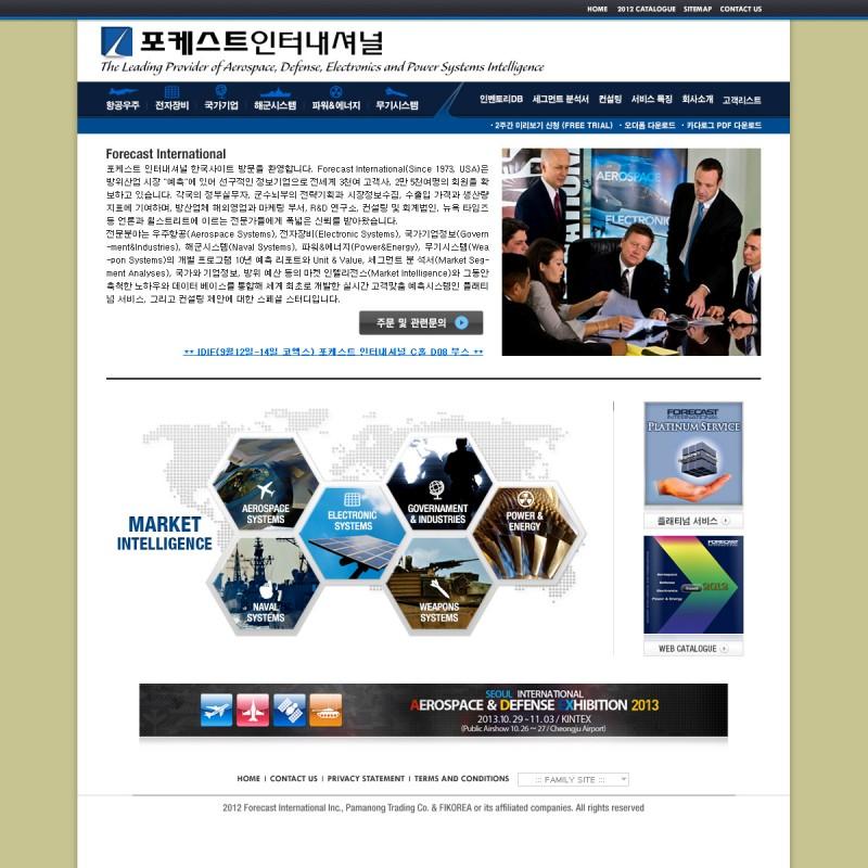 Forecast International Website Development