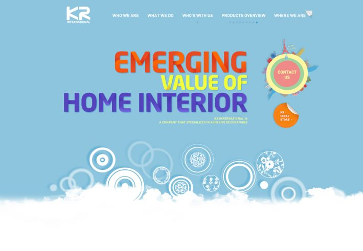 KR International Brand Website Development