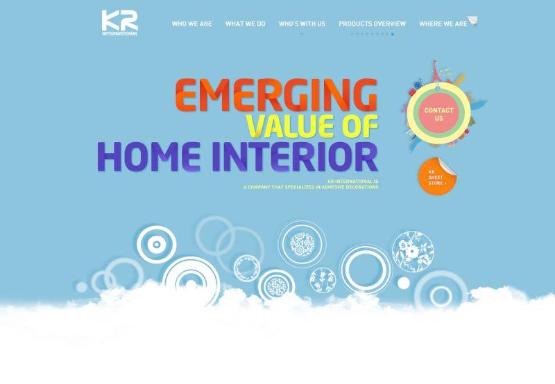 KR International Brand Website Development