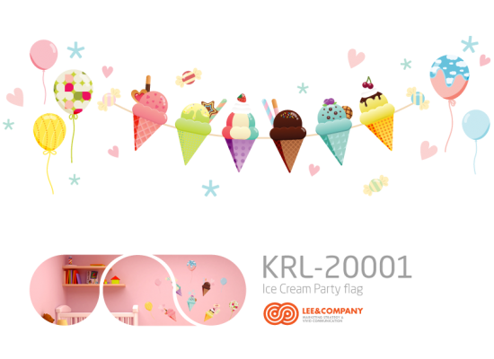 Collaboration Design _ Ice Cream Party Flag