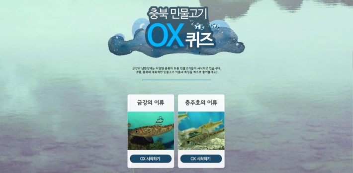 충북 민물고기 OX퀴즈 Website Development