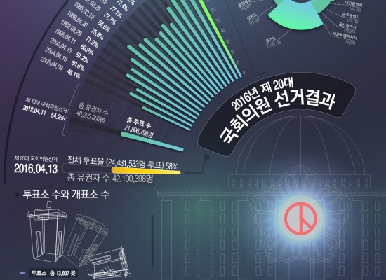 제20대 국회의원선거 선거결과 인포그래픽
